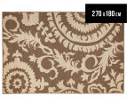 Floral Medallion 270x180cm UV Treated Indoor/Outdoor Rug - Brown 1
