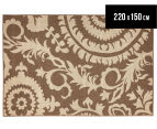 Floral Medallion 220x150cm UV Treated Indoor/Outdoor Rug - Brown 1