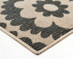 Floral Medallion 160x110cm UV Treated Indoor/Outdoor Rug - Cream 2