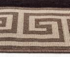 Greek Key 220x150cm UV Treated Indoor/Outdoor Rug - Brown/Black 3
