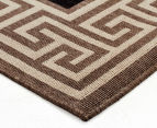 Greek Key 270x180cm UV Treated Indoor/Outdoor Rug - Brown/Black 3