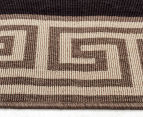 Greek Key 270x180cm UV Treated Indoor/Outdoor Rug - Brown/Black 4