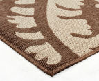 Floral Medallion 220x150cm UV Treated Indoor/Outdoor Rug - Brown 2
