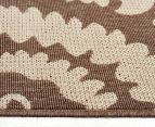 Floral Medallion 220x150cm UV Treated Indoor/Outdoor Rug - Brown 3