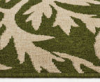 Tea Leaves 160x110cm UV Treated Indoor/Outdoor Rug - Green 3