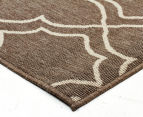 Geometric 270x180cm UV Treated Indoor/Outdoor Rug - Malt 2