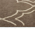 Geometric 270x180cm UV Treated Indoor/Outdoor Rug - Malt 3