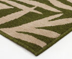 Tea Leaves 220x150cm UV Treated Indoor/Outdoor Rug - Green 2