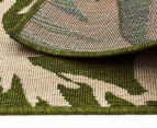Tea Leaves 220x150cm UV Treated Indoor/Outdoor Rug - Green 5