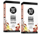 2 x 247 Breakfast Biscuit Apple, Rhubarb, Vanilla Bean & Quinoa 180g 1