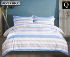 Gioia Casa Sky Queen Bed Quilt Cover Set - Blue/White 1