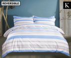 Gioia Casa Sky King Bed Quilt Cover Set - Blue/White 1