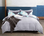 Gioia Casa Modern City Queen Bed Quilt Cover Set - Grey/Mint 2