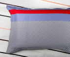 Gioia Casa Jason Queen Bed Quilt Cover Set - Navy/Red 5