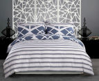 Gioia Casa Mason King Bed Mason Quilt Cover Set - Blue/Grey 2