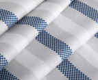 Gioia Casa Mason King Bed Mason Quilt Cover Set - Blue/Grey 4