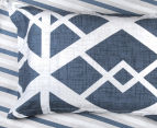 Gioia Casa Mason King Bed Mason Quilt Cover Set - Blue/Grey 5