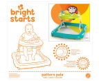 Bright Starts Pattern Pals Monkey Walker - Yellow/Teal 4
