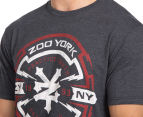 Zoo York Men's Cast Iron Short Sleeve Tee - Black Heather 6