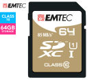 EMTEC SDHC Class 10 Gold+ 64GB SD Card 1