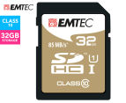 EMTEC SDHC Class 10 Gold+ 32GB SD Card 1