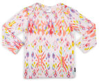 Bonds Baby Stretchies Long Sleeve Print Tee - Abstract Aztec 1