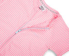 Bonds Baby Size 2 Zip Romper Wondersuit - Pink Stripe 3