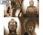 Buddha Quartet Cut Out Sepia 75x75cm Canvas Print 1