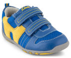 Clarks Kids' Maverick Shoe - Blue/Yellow 2