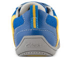 Clarks Kids' Maverick Shoe - Blue/Yellow 4
