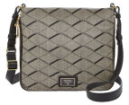 Fossil Preston Fabric Crossbody - Grey/Black 1