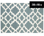 Isobel Lattice 280x190cm Rug - Blue 1