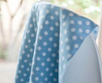 Little Bonbon 100x80cm Cotton Baby Blanket - Blue/White Polka Dot 4