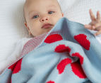 Little Bonbon 150x100cm Cot Blanket - Very Cherry 4