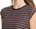 Rusty Women's Axle Short Sleeve Crop Tee - Sparrow 6