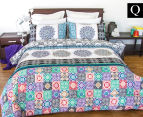 Apartmento Queen Bed Boho Reversible Comforter Set - Multi 1