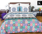 Apartmento King Bed Boho Reversible Comforter Set - Multi 1