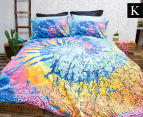 Retro Home Indah King Bed Quilt Cover Set - Multi 1