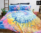 Retro Home Indah Double Bed Quilt Cover Set - Multi 1