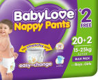 BabyLove Nappy Pants Junior 15-25kg, 22pk 2