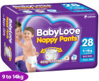 BabyLove Nappy Pants Toddler 9-14kg, 28pk 1