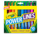 Crayola Power Lines Project Markers 10-Pack 1