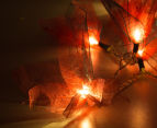 Short Story 3.5M Lily LED String Lights - Red 4