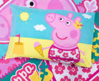 Peppa Pig Single Bed Reversible Quilt Cover Set - Flowers 4