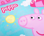 Peppa Pig Single Bed Reversible Quilt Cover Set - Flowers 5