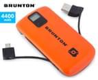 Brunton Metal 4400 Go Anywhere Electronics Charger - Orange 1