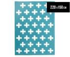 Joyful Kids' Crosses 220x150cm Rug - Blue 1