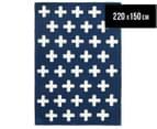 Joyful Kids' Crosses 220x150cm Rug - Navy 1