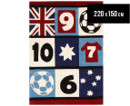 Creative Kids 220 x 150cm Patch Soccer Rug - Multi 1