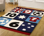 Creative Kids 220 x 150cm Patch Soccer Rug - Multi 2